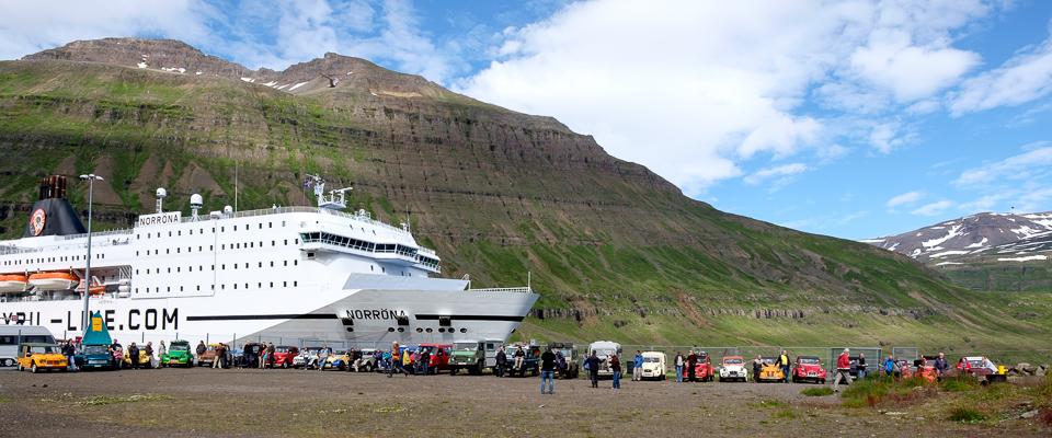 Gruppebillede ved ankomsten med færgen.